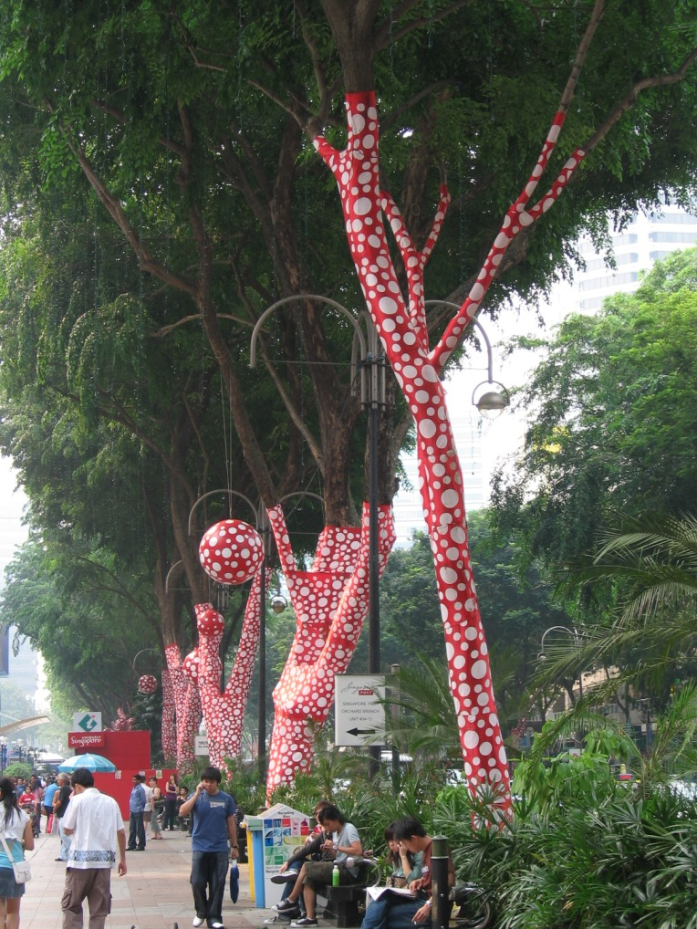 Yayoi Kusama. Orchard Road. Singapore Biennale 2006. Installation. Source: Wikipedia.