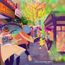 Aditi Raychoudhury. On a Very Busy Street. 2015. Adobe Illustrator.