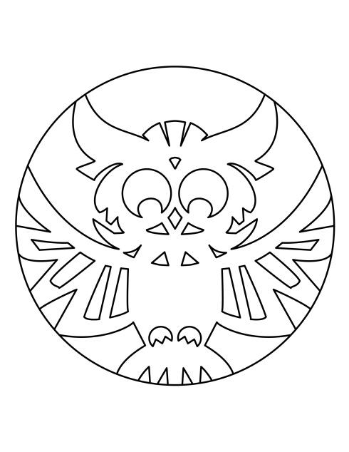 Aditi Raychoudhury. Owl Pumpkin Carving/Coloring Template. 2014. Adobe Illustrator.