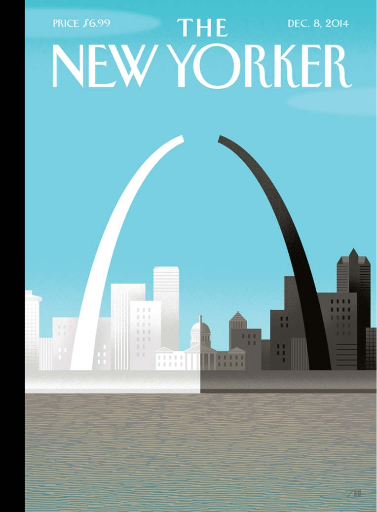Bob Staake. Broken Arch, New Yorker Cover. 2014.