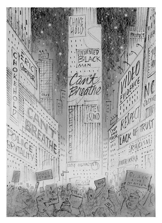 Bob Staake. Signs of the Times Square. 2014.
