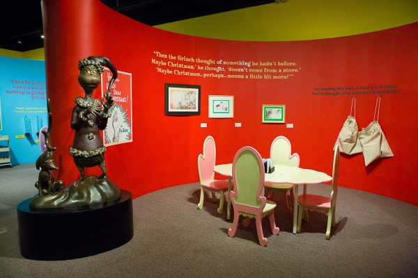 Postcard Room. Ingenious! The World of Dr. Seuss. 2014. San Diego History Center.
