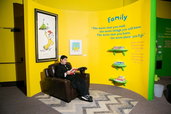 Reading Room. Ingenious! The World of Dr. Seuss. 2014. San Diego History Center.