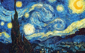 Vincent Van Gogh. Starry Night. 1889. Saint-Remy, Provence, France. Oil on Canvas.