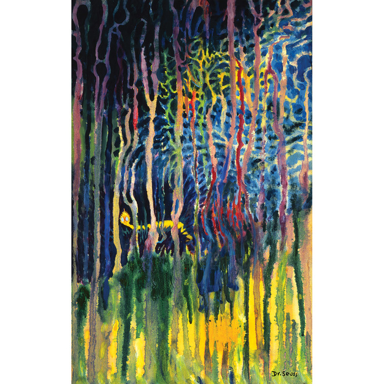 r. Seuss. Worm Burning Bright in the Forest in the Night. 1969. Oil on illustration board.