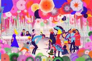 Aditi Raychoudhury. A Very Busy Umbrella Store 2019. Adobe Illustrator