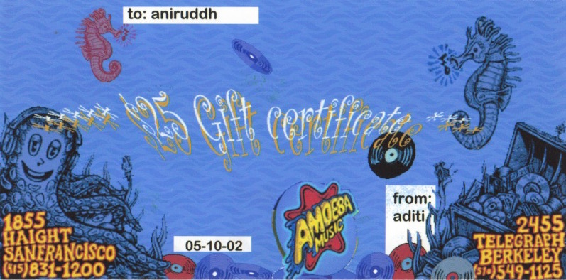 Aditi Raychoudhury. The Fake Gift Certificate. Photoshop. 2002.