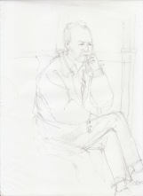 Aditi Raychoudhury. Just Like my Dad. 2000???. Pencil on Xerox Paper.