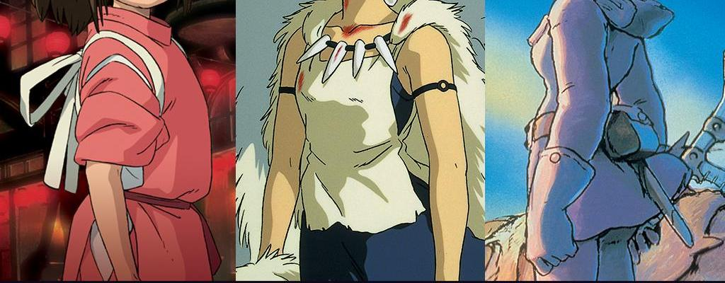 Hayao Miyazaki for Studio Ghibli. Spirited Away, Princess Mononoke, Nausicaa. Animation.