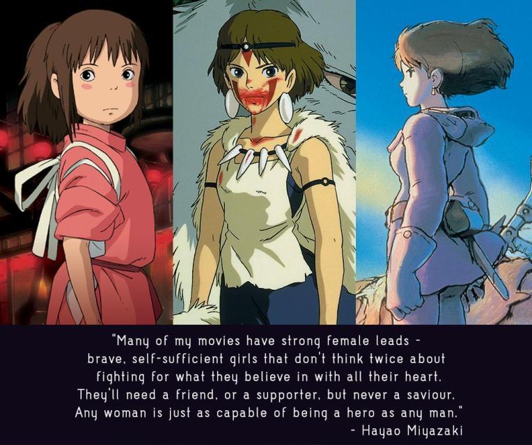 Hayao Miyazaki. Spirited Away, Princess Mononoke, Nausicaa. Animation.