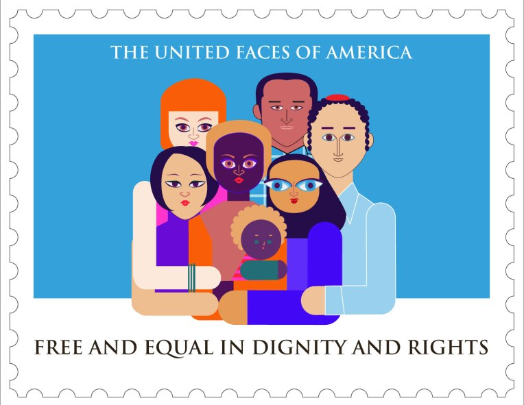 Aditi Raychoudhury. The United Faces of America. 2016. Adobe Illustrator.