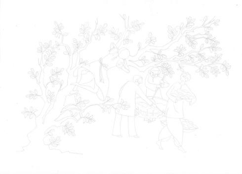 Aditi Raychoudhury. Basant Panchami (वसन्त पञ्चमी I বসন্ত পঞ্চমী I). Pencil Drawing. 2017.