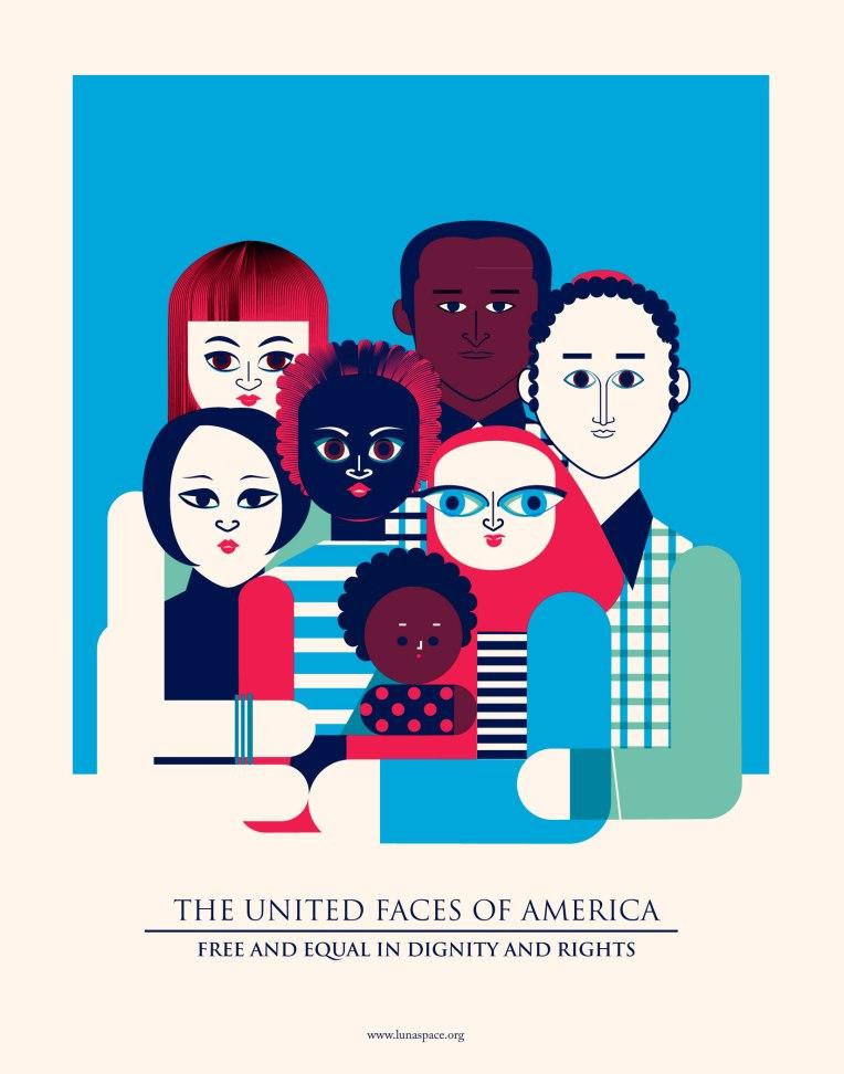 Aditi Raychoudhury. The United Faces of America (Color). 2017.