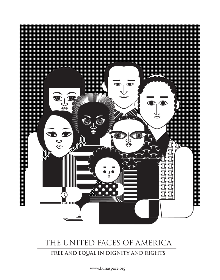 Aditi Raychoudhury. The United Faces of America (B+W). 2017.