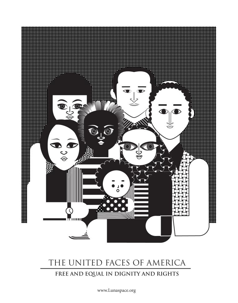 Aditi Raychoudhury. The United Faces of America (B+W). 2017.