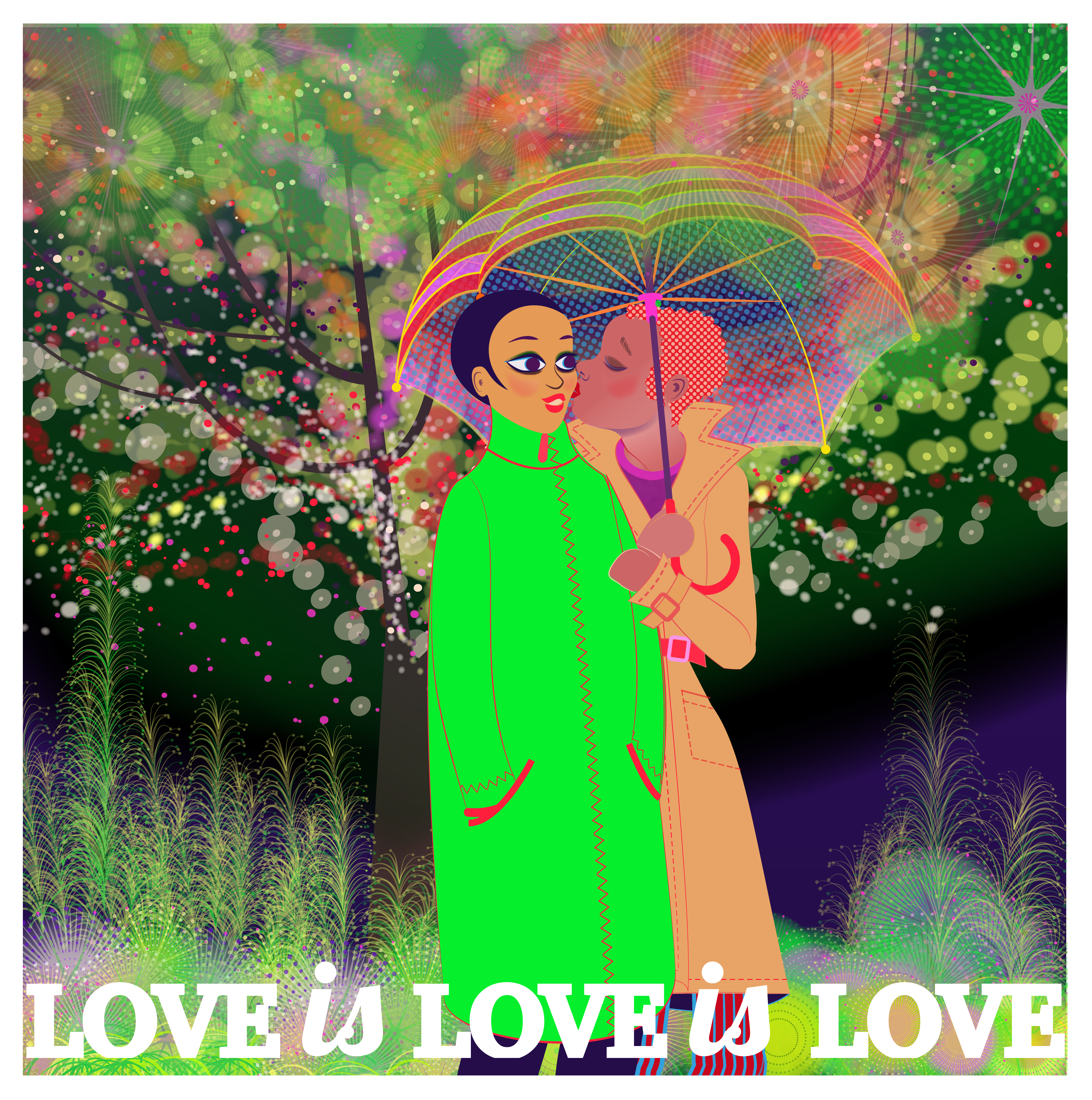 Aditi Raychoudhury. Love is Love is Love. 2018. Adobe Illustrator