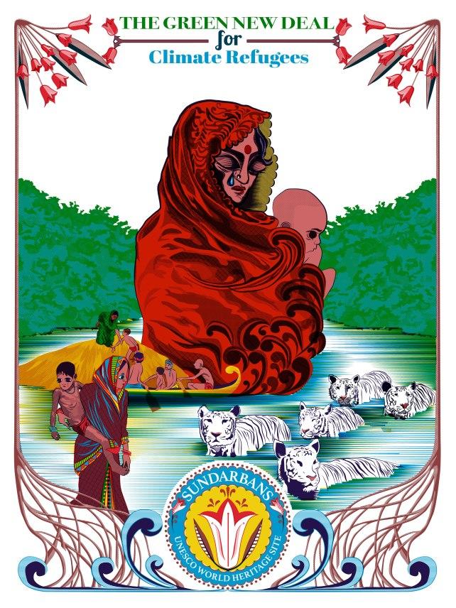 Aditi Raychoudhury. Save Climate Refugees. 2020. Adobe Illustrator.