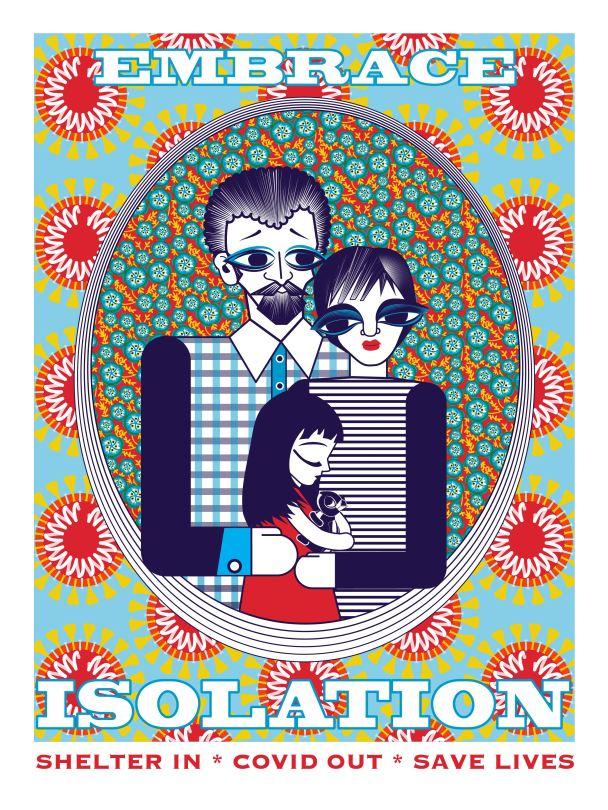 Aditi Raychoudhury. Embrace Isolation. 2020. Adobe Illustrator.